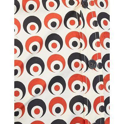 Foto van Chenaski | overhemd Seventies Retro Eyeball Creme Zwart Rood