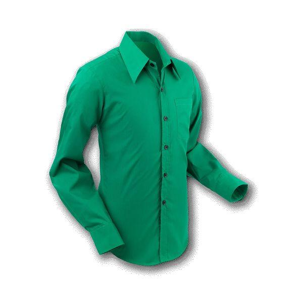 Chenaski   Overhemd 70s Basic Teal-Green