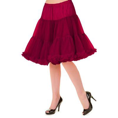 Petticoat Walkabout Knielang met extra volume, bordeaux