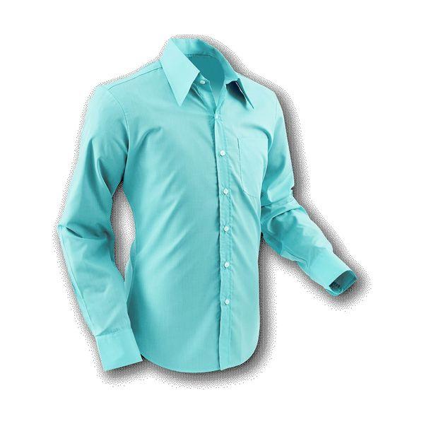 Chenaski   Overhemd 70s Basic Old-light-Blue