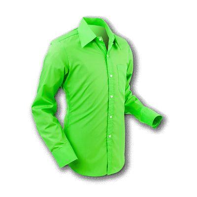 Chenaski   Overhemd 70s Basic Grass-Green