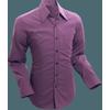 Afbeelding van Chenaski   Overhemd 70s Basic Aubergine