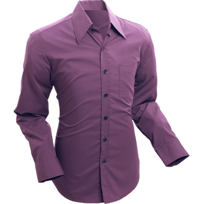 Chenaski   Overhemd 70s Basic Aubergine