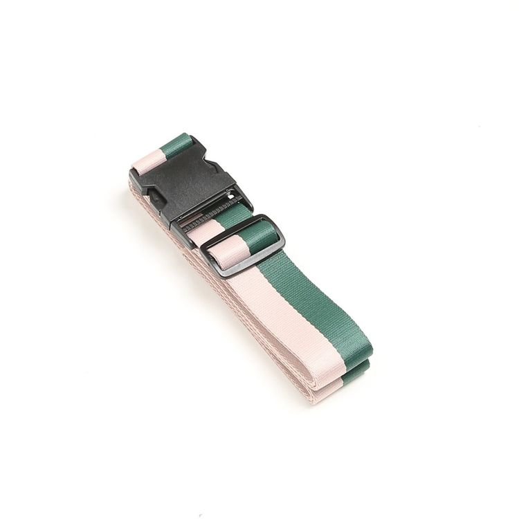 LUGGAGE STRAP - GREEN/PINK