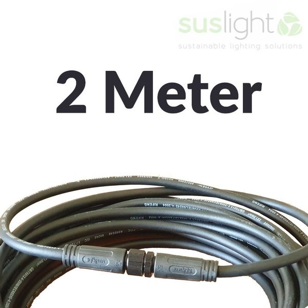 2 Meter - Q-S Connect 2 core Power Cable 24V