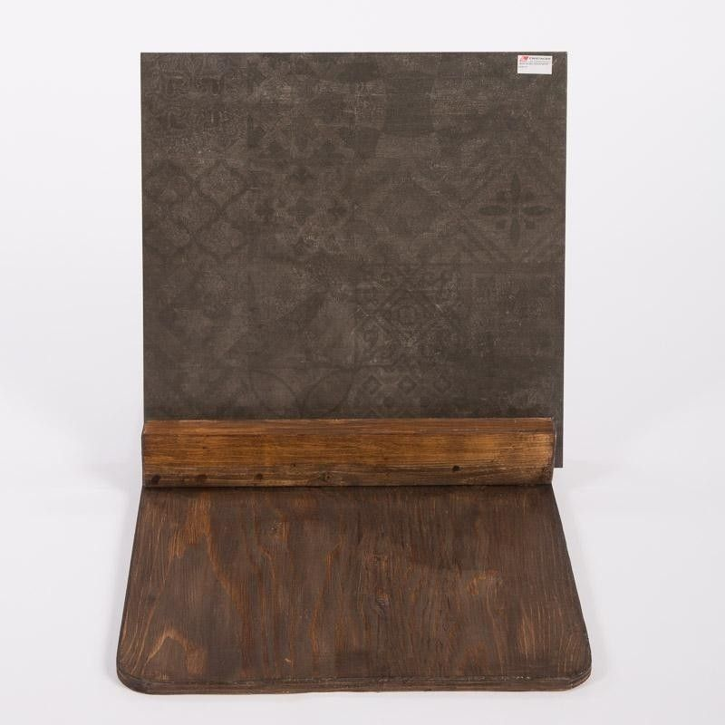 Cristacer Montblanc Decor Negro 60x60