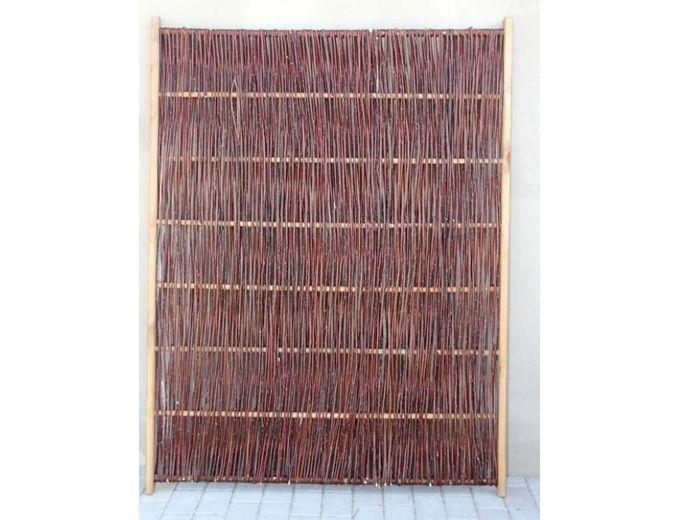 Afbeelding van Wilgenvlechtscherm met houten kader