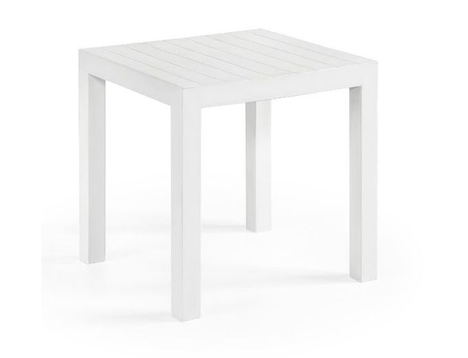 Afbeelding van Vierkante Tuintafel Bram S Wit 45x45 cm