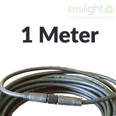 1 Meter - Q-S Connect 2 Aderig Stroomkabels 24V