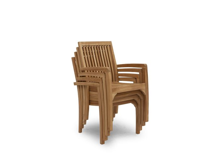 Afbeelding van Teak houten stoel Tess