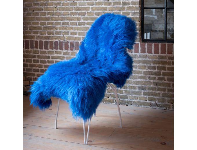 Afbeelding van Texels Schapenvacht Gekleurd – Kobalt blauw XL