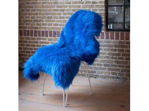 Foto van Texels Schapenvacht Gekleurd – Kobalt blauw XL