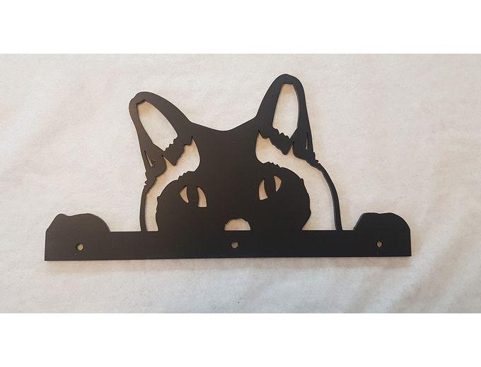 Afbeelding van kat voor op de schutting