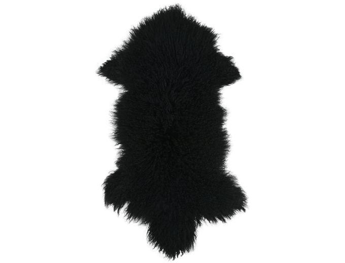 Afbeelding van Tibetaans Schapenvacht Zwart – XL 100-110 cm