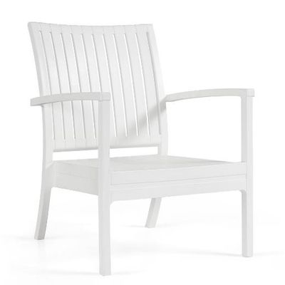 Bram low chair white