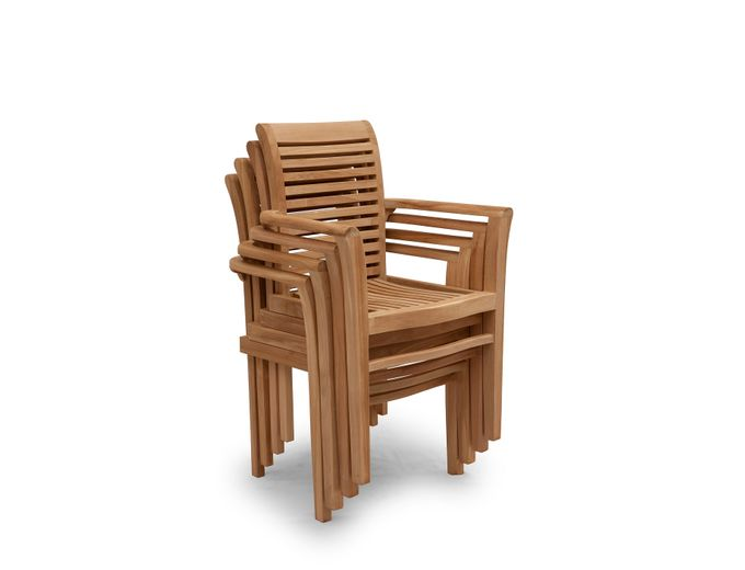 Afbeelding van Teak houten stoel Noor
