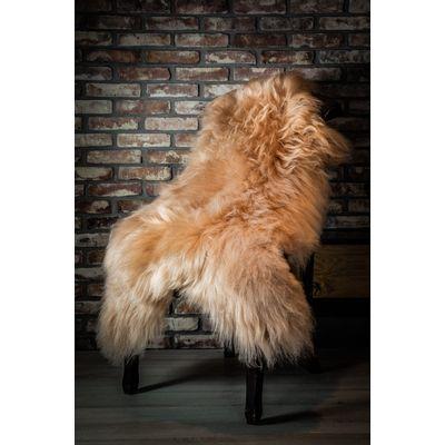 Foto van IJslands schapenvacht – Cappuccino Cognac XL