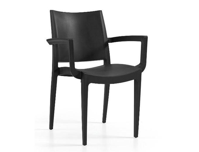 Afbeelding van Tuinstoel Annelies armchair zwart