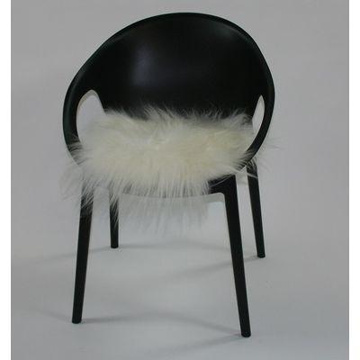 Foto van Schapenvacht stoelpad wit