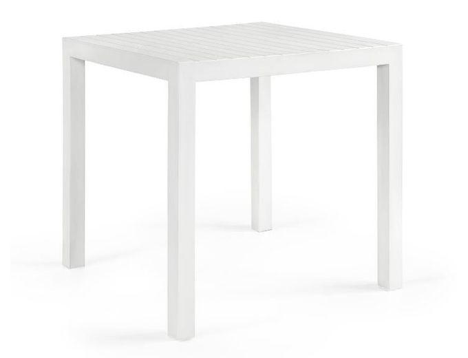 Afbeelding van Vierkante Tuintafel Bram M Wit 80x80 cm