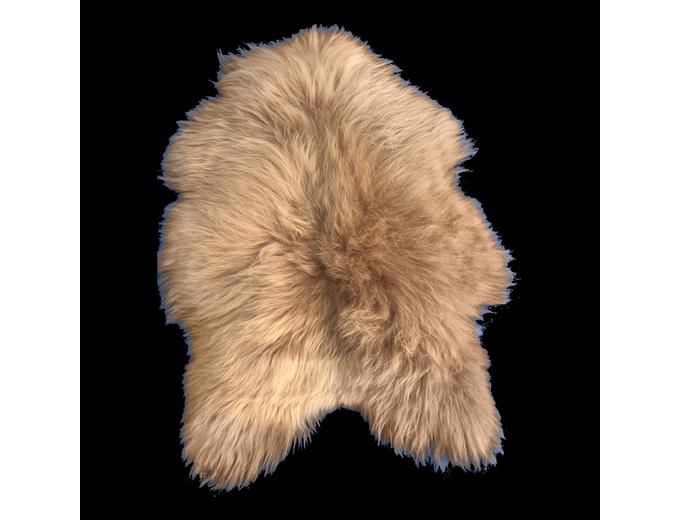 Afbeelding van IJslands schapenvacht – Cappuccino Cognac XL