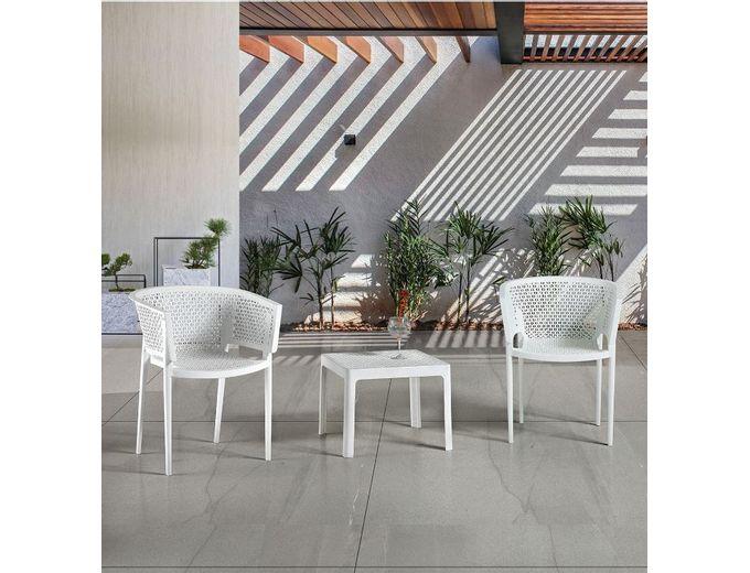 Afbeelding van Tuinstoel Rosa armchair wit