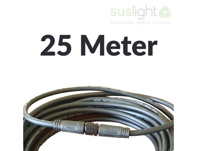 Afbeelding van 25 Meter - Q-S Connect 2 Aderig Stroomkabels 24V