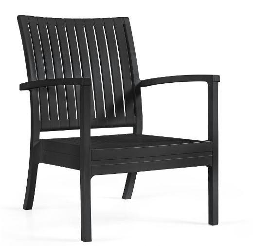 Afbeelding van Tuinstoel Bram low chair zwart