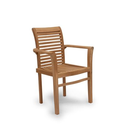 Foto van Teak houten stoel Noor