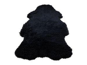 Foto van Texels Schapenvacht Zwart – gekleurd XL 100-110 cm