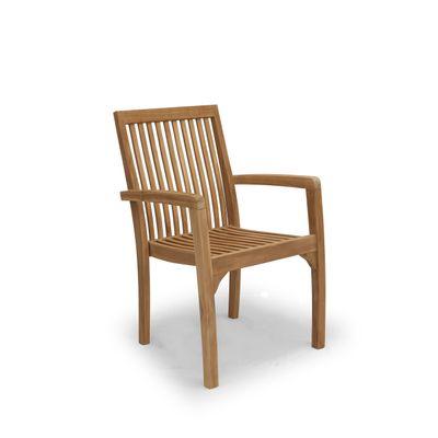 Foto van Teak houten stoel Tess