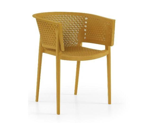 Afbeelding van Tuinstoel Rosa armchair oker geel