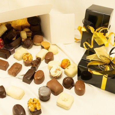 Foto van Doosje Bonbons Melkchocolade