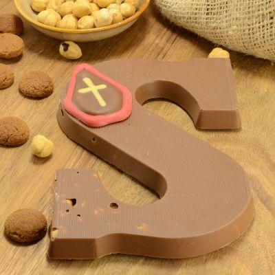 Foto van Chocoladeletter melk met hazelnoot suikervrij