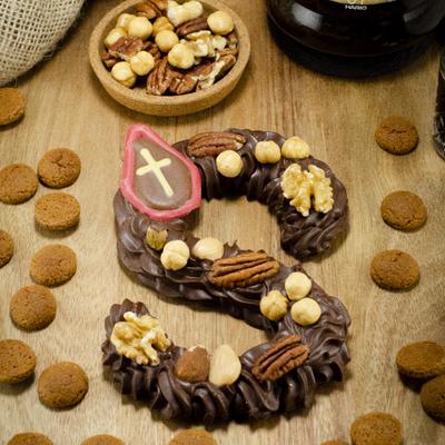 Foto van Chocolade Spuitletter puur