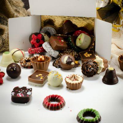 Foto van Luxe kerstbonbons mix