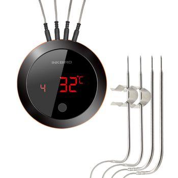 Foto van Inkbird IBT-4XR Slimme Vleesthermometer met LCD en Bluetooth