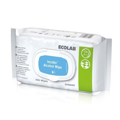 Afbeelding van Ecolab Alcohol 100 Wipes