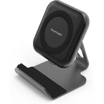 Foto van RAVPower 10W Wireless Charger met RAVPower 24W oplader