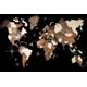 Afbeelding van 3D Wood World Map XL Multicoloured