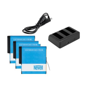 Foto van Newell Triple Battery Charger Pack voor GoPro HERO5/6/7 Black en HERO 2018