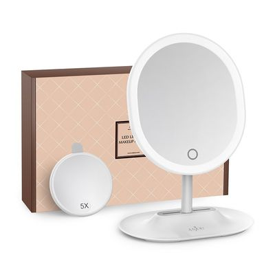 Afbeelding van Anjou MakeUp Mirror Rechargeable LED White
