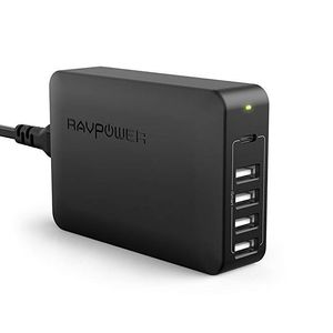 Foto van Ravpower 60W 5-Port USB Desktop Charger With USB-C PD
