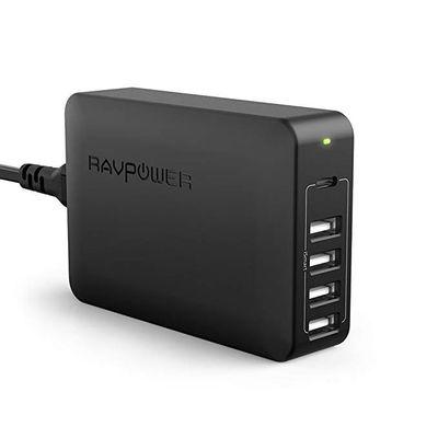 Afbeelding van Ravpower 60W 5-Port USB Desktop Charger With USB-C PD