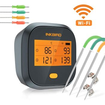 Foto van Inkbird IBBQ-4T Slimme Vleesthermometer met LCD en WiFi