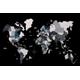 Afbeelding van 3D Wood World Map Full L Grey