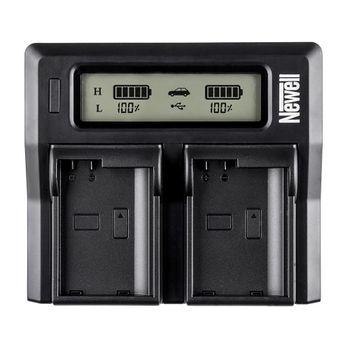 Foto van Newell Dual Charger met LCD voor Sony NP-F en NP-FM serie
