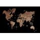 Afbeelding van 3D Wood World Map Full XXL Walnut
