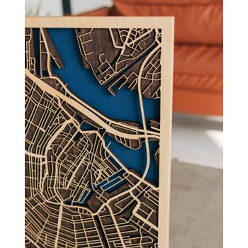 Foto van 3D City Map Amsterdam XL