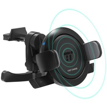 Foto van TaoTronics TT-SH007 Vent Car Phone Holder 7.5W/10W Fast Wireless Charging